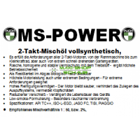 MS-POWER Vollsynthetisches 2T Mischoel